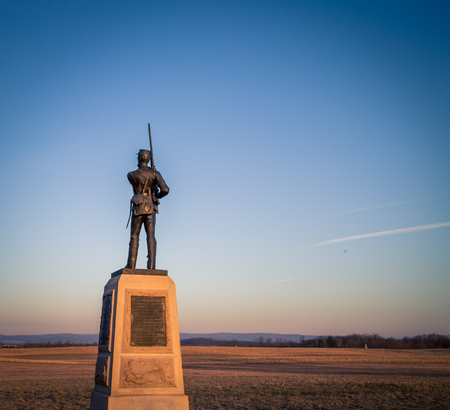 infantry soldier memorial Gettysburg