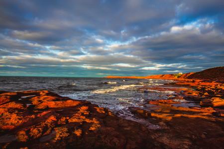 rocky shore of prince edward island