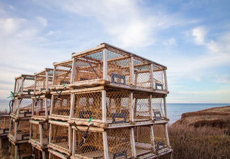 lobster traps in Prince Edward Island