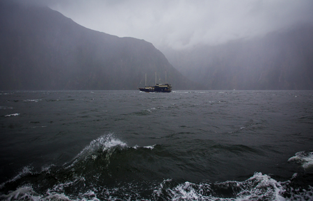 Rainy day at Milford Sound
