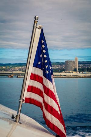 American flag at Pearl Harbor