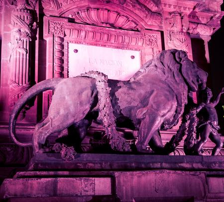 colorful lion statue in Mexico City Archivio Fotografico