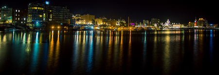 waterfront Victoria British Colombia at night