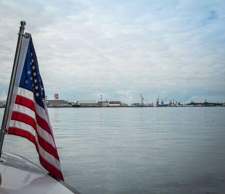 Us flag at pearl harbor