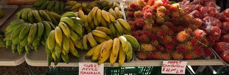 fresh bananas at a market in Hawaii