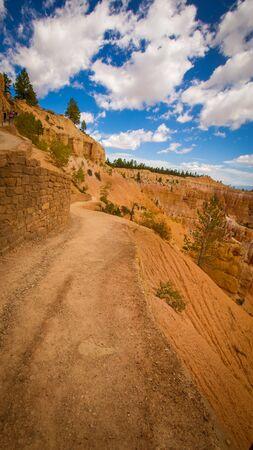 walking trail in Bryce trail Stockfoto