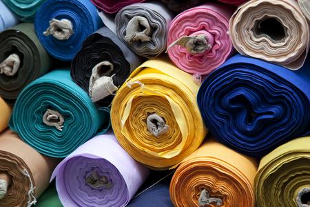 Fabric rolls Stock fotó