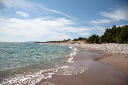 Rocky beach at Cabot Trail, Nova Scotia.