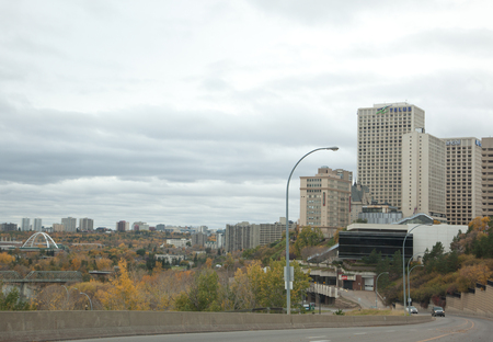 view of downtown edmonton on October 1, 2017 and telus building