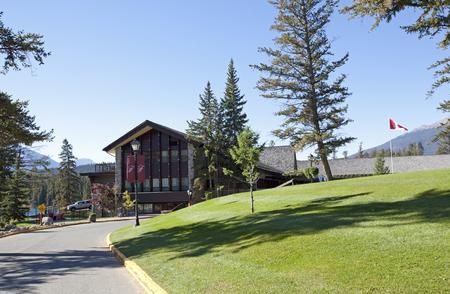 prestigious: October 5, 2017: the main building at Fairmont Resort Jasper