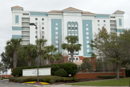 February 3, 2018: Orlando, Florida: The Fountains Resort by Blue Green Vacations on International Drive
