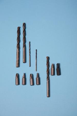 Vertical assortment of metal drill bits