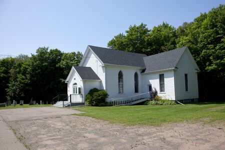 July 26, 2019: Freetown, PEI- The cemetery and church in Freetown of the United faith