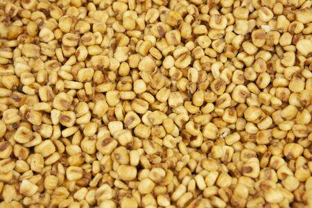 deep fried quico or corn kernel nuts Banco de Imagens