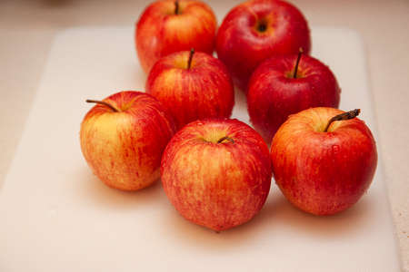 beautiful cruchy looking freshly washed apples in the kitchen