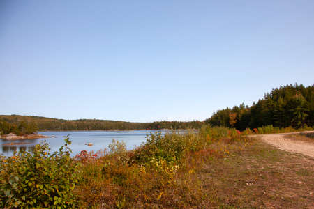 The Five Mile Lake area of St. Margaret's Bay, a popular camping area Zdjęcie Seryjne