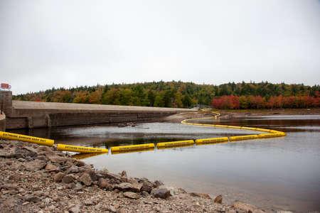September 27, 2020- Halifax, Nova Scotia: The hydroelectric dam on Sandy Lake at St. Margaret's Bay area Zdjęcie Seryjne