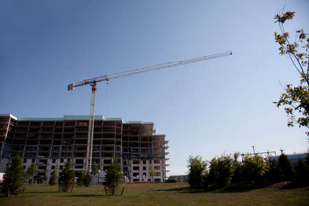 Halifax, Nova Scotia- august 2, 2017: Construction of a new building or complex in the Larry Uteck area of Halifax