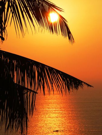 aura sun: Andaman Sea sunset, Myanmar (Burma) Asia