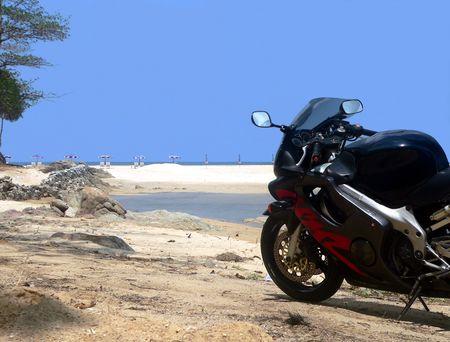 Coastal Bike Tour. Nai Harn Beach Thailand photo