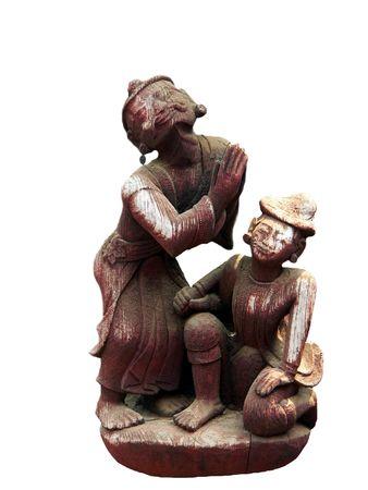 birma: Bid-to-Boeddha Carving Myanmar (Birma)