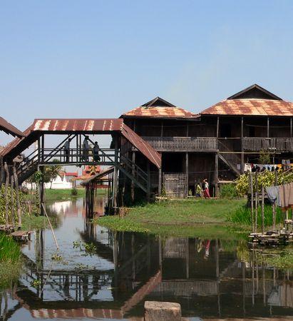 inle: Inle Lake Waterway #2  Myanmar (Burma)