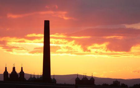 Sunset Edinburgh Scotland photo