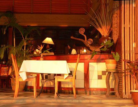 eacute: Apertura frontale Cafe Sarawak Borneo Archivio Fotografico