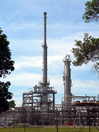 globalwarming: Brunei. Crude Oil Refinery Stock Photo