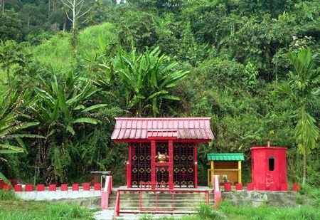 Brunei. Chinese Temple  Shrine (rural) 2of3 photo