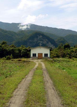 Borneo. Remote Christian Church photo