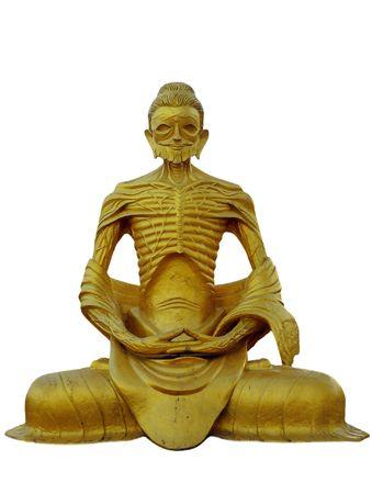 birma: Birma (Myanmar) Gold Leaf-beschilderde Boeddha skeletale Stockfoto