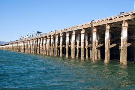 augusta: long empty wharf at port augusta