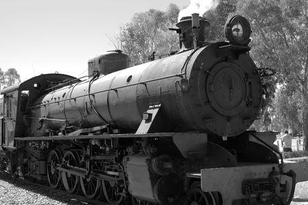 steam train in black and white Stock Photo - 830090