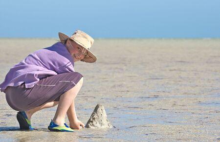 making sandcastles photo