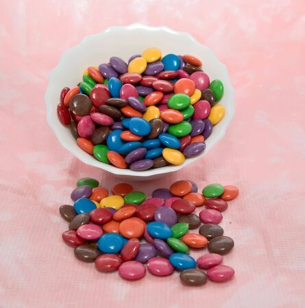 beanies: bowl of smarties tipping out