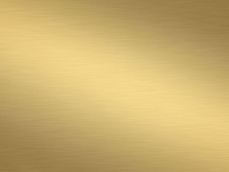 a large sheet of rendered lightly brushed shiny gold Stock Photo