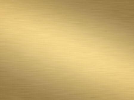 a large sheet of rendered lightly brushed shiny gold Stock Photo