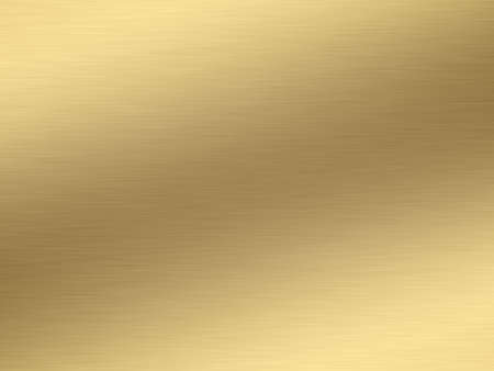 shiny metal: a large sheet of rendered lightly brushed shiny gold Stock Photo