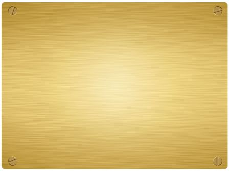 screws: gold plaque with screws in the rounded corners