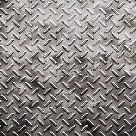 a very large sheet of rough black diamond plate with pits and marks Stock Photo - 1179120