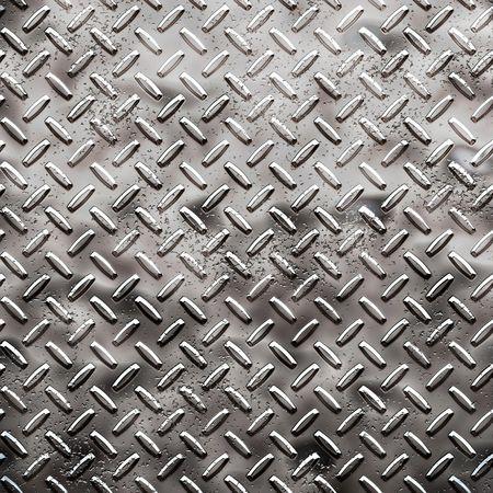diamondplate: Un grande foglio di diamanti grezzi nero targa con pozzi e marchi  Archivio Fotografico