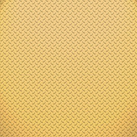 treadplate: a very large sheet of very fine small gold or copper tread or diamond plate Stock Photo