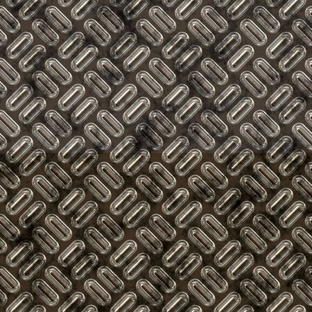 checkerplate: a large sheet of diamond or tread plate metal Stock Photo
