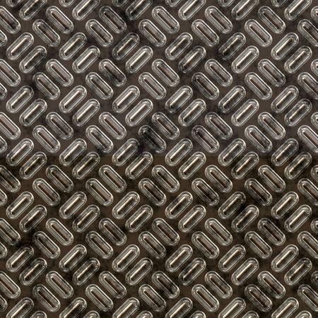 treadplate: a large sheet of diamond or tread plate metal Stock Photo