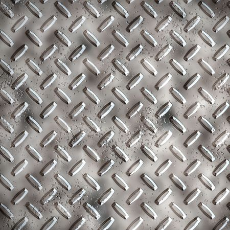 a large sheet of diamond or tread plate metal Stock Photo - 1260854