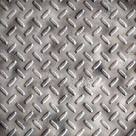 tread plate: a large sheet of diamond or tread plate metal Stock Photo