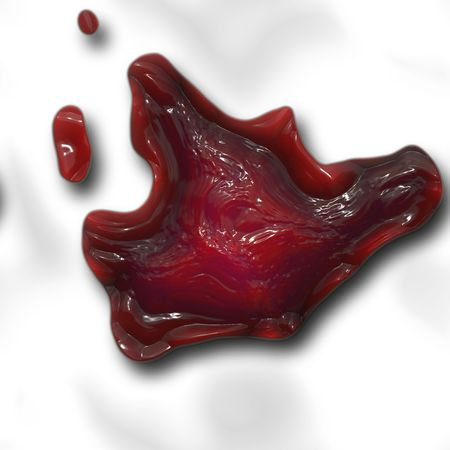 a big image of an old dried red blood clot Stock Photo - 1288955