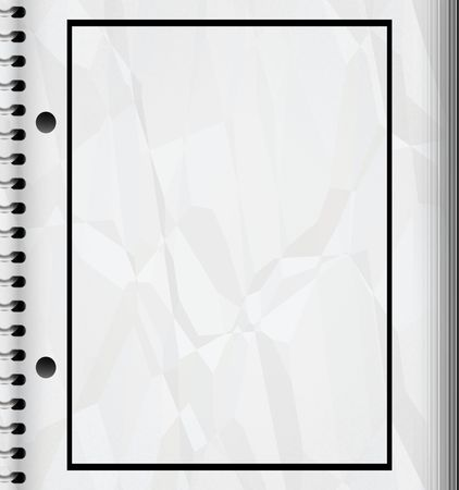 punched: a large image of a spiral bound drawing or sketch pad