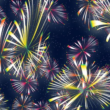 fawkes: a nice illustration of bright and colourful fireworks